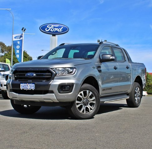 Used Ford Ranger PX MkIII 2020.25MY Wildtrak Midland, 2019 Ford Ranger PX MkIII 2020.25MY Wildtrak Silver 10 Speed Sports Automatic Double Cab Pick Up