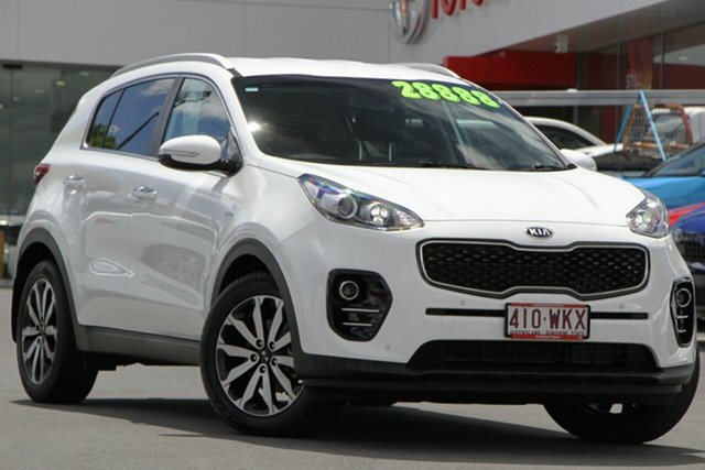 Pre-Owned Kia Sportage QL MY16 SLi AWD Woolloongabba, 2016 Kia Sportage QL MY16 SLi AWD White 6 Speed Sports Automatic Wagon