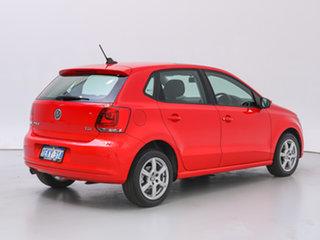 2013 Volkswagen Polo 6R MY13 66 TDI Comfortline Red 7 Speed Auto Direct Shift Hatchback