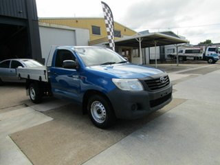 2011 Toyota Hilux TGN16R MY12 Workmate 4x2 Blue 5 Speed Manual Cab Chassis.