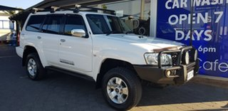 2008 Nissan Patrol GU VI ST (4x4) White 5 Speed Manual Wagon.