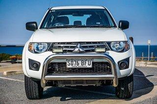 2015 Mitsubishi Triton MN MY15 GLX Double Cab 4x2 White 5 Speed Manual Utility
