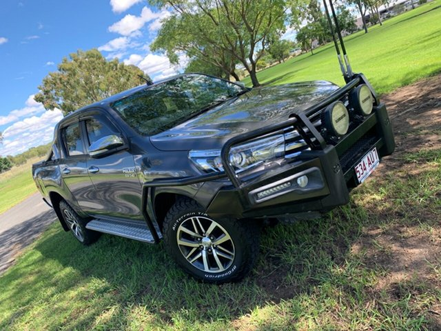 Pre-Owned Toyota Hilux GUN126R SR5 Double Cab Moree, 2016 Toyota Hilux GUN126R SR5 Double Cab Graphite 6 Speed Sports Automatic Utility