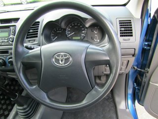 2011 Toyota Hilux TGN16R MY12 Workmate 4x2 Blue 5 Speed Manual Cab Chassis