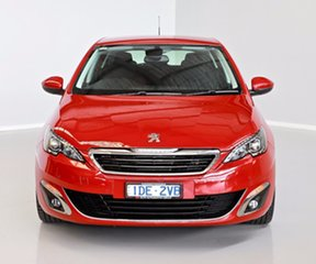 2015 Peugeot 308 T9 Allure Red 6 Speed Sports Automatic Hatchback.
