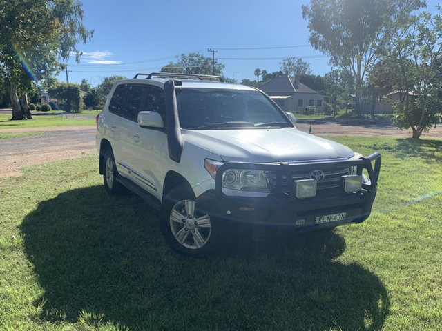 Used Toyota Landcruiser VDJ200R MY12 Sahara Moree, 2013 Toyota Landcruiser VDJ200R MY12 Sahara Crystal Pearl 6 Speed Sports Automatic Wagon