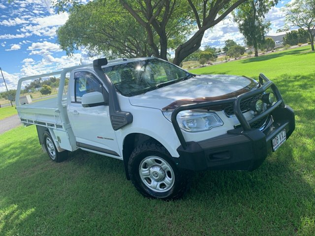 Pre-Owned Holden Colorado RG MY15 LS Moree, 2015 Holden Colorado RG MY15 LS Summit White 6 Speed Sports Automatic Cab Chassis