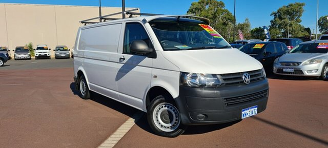 Used Volkswagen Transporter T5 MY14 TDI340 LWB DSG East Bunbury, 2014 Volkswagen Transporter T5 MY14 TDI340 LWB DSG White 7 Speed Sports Automatic Dual Clutch Van