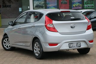 2011 Hyundai Accent RB Active Silver 4 Speed Automatic Hatchback.
