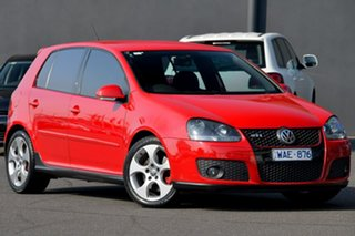 2007 Volkswagen Golf V MY07 GTi Red 6 Speed Manual Hatchback