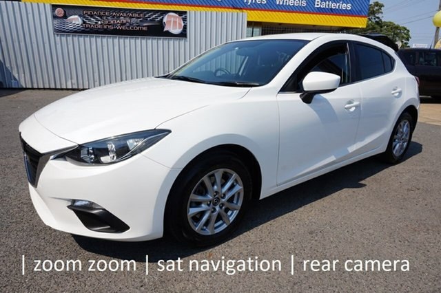 Used Mazda 3 BM5478 Maxx SKYACTIV-Drive Dandenong, 2014 Mazda 3 BM5478 Maxx SKYACTIV-Drive White 6 Speed Sports Automatic Hatchback