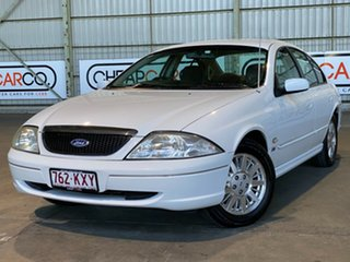 2002 Ford Fairmont AU III White 4 Speed Automatic Sedan.