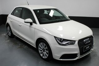 2014 Audi A1 8X MY14 Attraction Sportback S Tronic White 7 Speed Sports Automatic Dual Clutch.