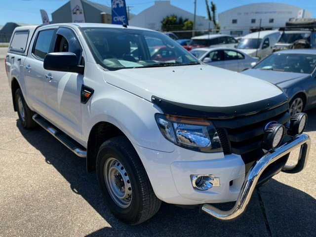 Used Ford Ranger PX XL Wickham, 2015 Ford Ranger PX XL White 6 Speed Sports Automatic Cab Chassis