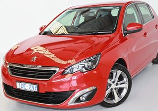 2015 Peugeot 308 T9 Allure Red 6 Speed Sports Automatic Hatchback