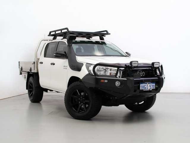 Used Toyota Hilux GUN126R MY19 SR (4x4), 2019 Toyota Hilux GUN126R MY19 SR (4x4) White 6 Speed Manual Double Cab Chassis