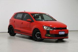 2012 Volkswagen Polo 6R MY12 Update GTi Red 7 Speed Auto Direct Shift Hatchback.