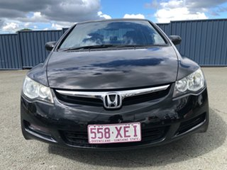 2008 Honda Civic 8th Gen MY08 VTi Black 5 Speed Automatic Sedan