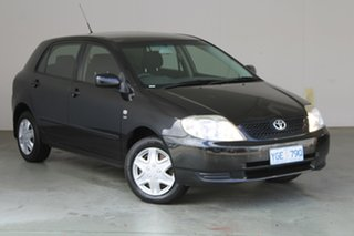 2003 Toyota Corolla ZZE122R Ascent Black 5 Speed Manual Hatchback.