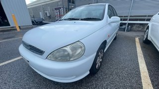 2001 Kia Rio LS White 4 Speed Automatic Sedan.