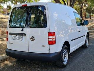 2010 Volkswagen Caddy 2KN MY11 TDI250 Maxi White 5 Speed Manual Van.