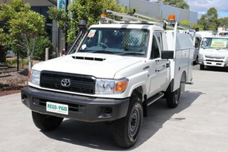 2017 Toyota Landcruiser VDJ79R Workmate French Vanilla 5 speed Manual Cab Chassis.