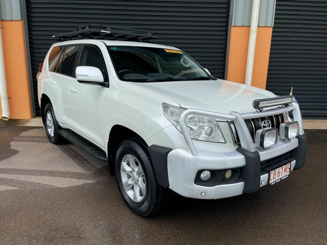 Used Toyota Landcruiser Prado KDJ150R Altitude Winnellie, 2012 Toyota Landcruiser Prado KDJ150R Altitude White 5 Speed Sports Automatic Wagon