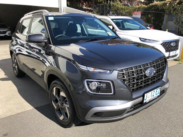 Demo Hyundai Venue QX.V3 MY21 Active Hobart, 2020 Hyundai Venue QX.V3 MY21 Active Cosmic Grey 6 Speed Automatic Wagon