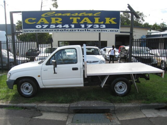 Used Toyota Hilux Workmate Nambour, 2003 Toyota Hilux 149 Workmate White 5 Speed Manual Cab Chassis