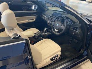 2017 BMW 220i F23 MY18 Luxury Line Deep Sea Blue 8 Speed Automatic Convertible