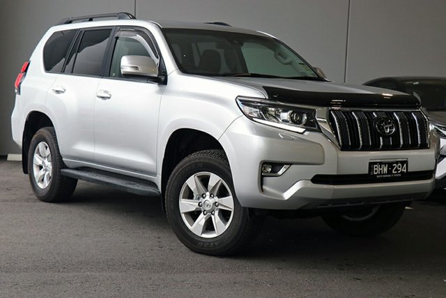 Pre-Owned Toyota Landcruiser Prado GDJ150R GXL South Morang, 2020 Toyota Landcruiser Prado GDJ150R GXL Silver Pearl 6 Speed Sports Automatic Wagon