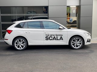2020 Skoda Scala NW MY20.5 110TSI DSG White 7 Speed Sports Automatic Dual Clutch Hatchback.