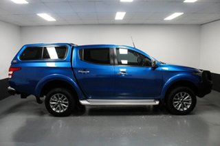 2018 Mitsubishi Triton MQ MY18 GLS Double Cab Blue 5 Speed Sports Automatic Utility