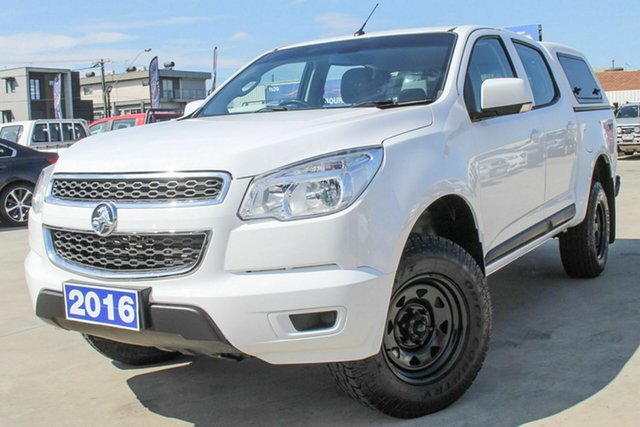 Used Holden Colorado RG MY16 LS Crew Cab Coburg North, 2016 Holden Colorado RG MY16 LS Crew Cab White 6 Speed Manual Utility