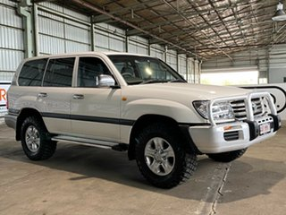 2007 Toyota Landcruiser UZJ100R GXL White 5 Speed Automatic Wagon.