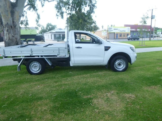 Used Ford Ranger PX XL Beverley, 2014 Ford Ranger PX XL White Manual Cab Chassis