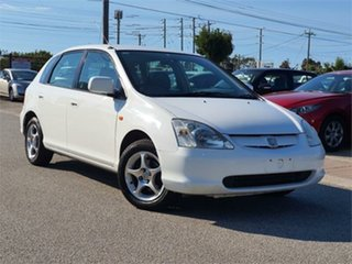 2001 Honda Civic 7th Gen VI White 4 Speed Automatic Hatchback.