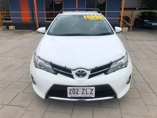 2014 Toyota Corolla ZRE182R Ascent Sport White 6 Speed Manual Hatchback.