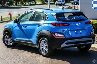 2021 Hyundai Kona Os.v4 MY21 2WD Surfy Blue 8 Speed Constant Variable Wagon.