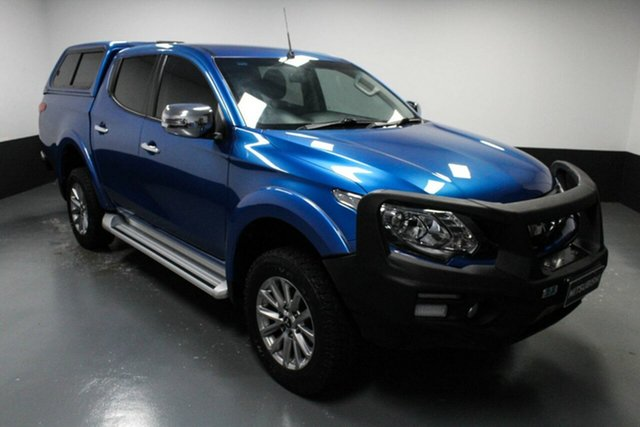 Used Mitsubishi Triton MQ MY18 GLS Double Cab Cardiff, 2018 Mitsubishi Triton MQ MY18 GLS Double Cab Blue 5 Speed Sports Automatic Utility