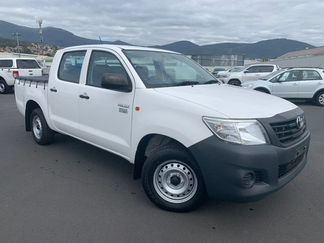 Used Toyota Hilux TGN16R MY14 Workmate Double Cab 4x2 Moonah, 2014 Toyota Hilux TGN16R MY14 Workmate Double Cab 4x2 White 4 Speed Automatic Utility
