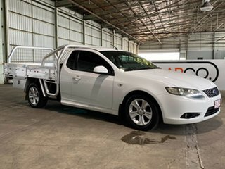 2009 Ford Falcon FG R6 Ute Super Cab White 5 Speed Sports Automatic Utility.