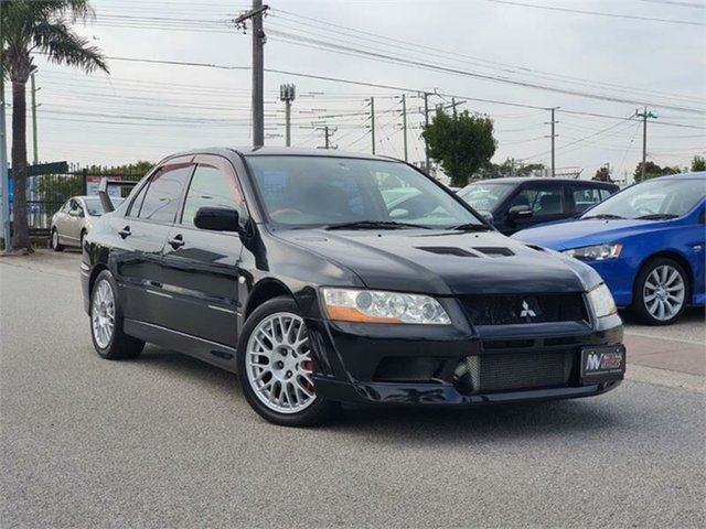 Used Mitsubishi Lancer Cheltenham, 2001 Mitsubishi Lancer CT9A Evolution VII GSR Black Manual Sedan