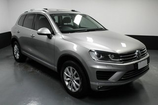 2015 Volkswagen Touareg 7P MY15 150TDI Tiptronic 4MOTION Silver 8 Speed Sports Automatic Wagon.