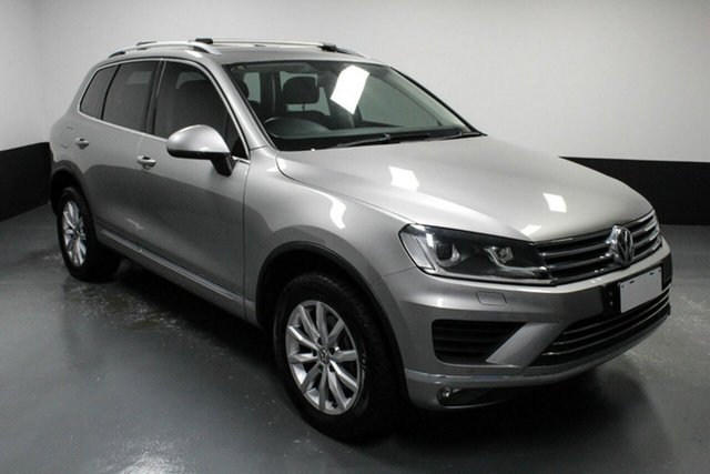 Used Volkswagen Touareg 7P MY15 150TDI Tiptronic 4MOTION Hamilton, 2015 Volkswagen Touareg 7P MY15 150TDI Tiptronic 4MOTION Silver 8 Speed Sports Automatic Wagon