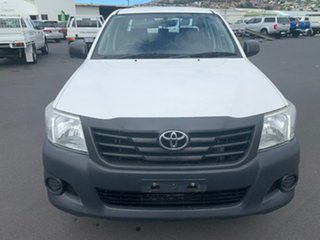2014 Toyota Hilux TGN16R MY14 Workmate Double Cab 4x2 White 4 Speed Automatic Utility
