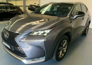 2015 Lexus NX AGZ15R NX200t AWD F Sport Silver 6 Speed Sports Automatic Wagon.