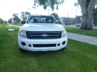 2014 Ford Ranger PX XL White Manual Cab Chassis.
