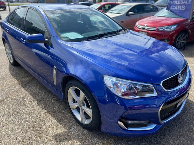Used Holden Commodore VF II MY16 SV6 Wickham, 2016 Holden Commodore VF II MY16 SV6 Blue 6 Speed Sports Automatic Sedan