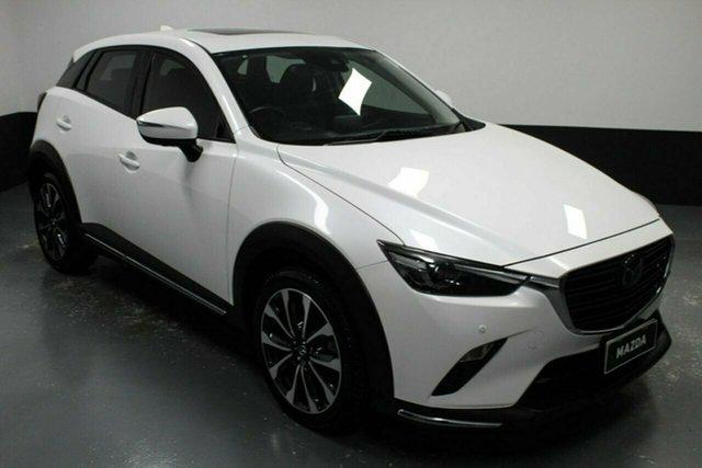 Used Mazda CX-3 DK4W7A Akari SKYACTIV-Drive i-ACTIV AWD Hamilton, 2018 Mazda CX-3 DK4W7A Akari SKYACTIV-Drive i-ACTIV AWD White 6 Speed Sports Automatic Wagon